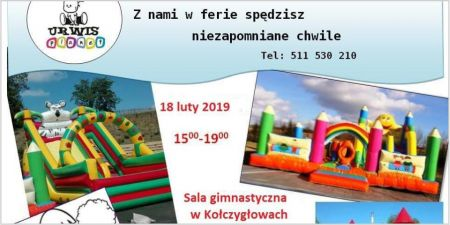 Zaproszenie na dmuchany plac zabaw dla dzieci