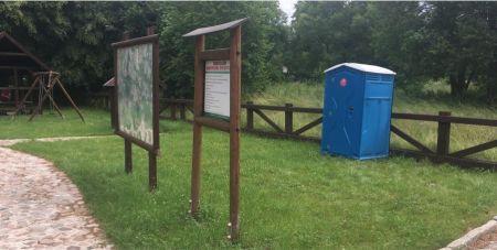 Przeno¶ne toalety na przystaniach kajakowych